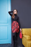 Beauty sexy dress clothing makeup fashion style woman Royalty Free Stock Photo