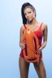 Beauty sexy lifeguard woman Stock Image