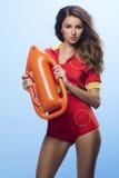Beauty lifeguard woman royalty free stock photos