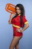Beauty sexy lifeguard woman Stock Photo
