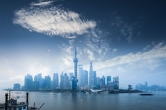 The beauty of shanghai in dawn Stock Image