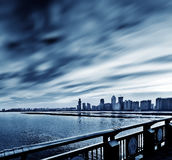 The beauty of the Shanghai pudong skyline. The night is beautiful Shanghai pudong skyline Royalty Free Stock Photo