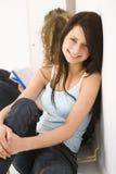 Beauty shoolgirl Stock Photo