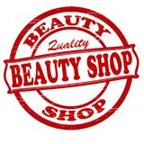 Beauty shop. Stamp with text beauty shop ine,  illustration Royalty Free Stock Photos