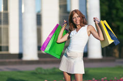 Beauty shopping woman Stock Photo