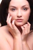 Beauty shot. A close up of a beautiful young woman posing. Beauty shot stock photography