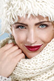 Beauty shot of a beautiful woman in winter clothes Stock Photography