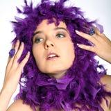 Beauty shot with boa Royalty Free Stock Photo