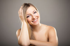Beauty shot of caucasian blond Stock Images