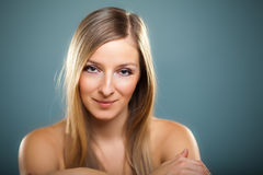 Beauty shot of caucasian blond Stock Photo