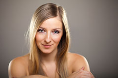 Beauty shot of caucasian blond Royalty Free Stock Images