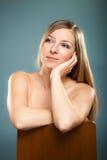 Beauty shot of caucasian blond Stock Photo