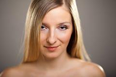Beauty shot of caucasian blond Stock Image