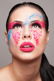 Beauty shot of faceart visage Stock Photo