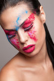 Beauty shot of faceart visage Stock Image