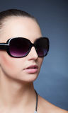 Beauty shot with glasses Royalty Free Stock Image