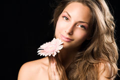Beauty shot of a gorgeous young brunette woman. Royalty Free Stock Photo