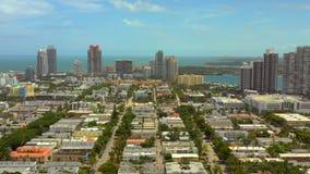 Beauty shot of Miami Beach. FL USA stock footage
