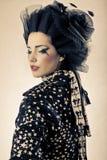 Beauty shot of model styled Japanese Royalty Free Stock Photography