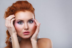 Beauty shot of woman with makeup Royalty Free Stock Image