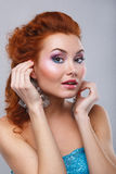 Beauty shot of woman with makeup Royalty Free Stock Photo
