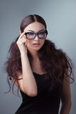 Beauty shot of a woman in stylish shades Royalty Free Stock Photography