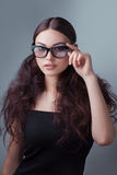 Beauty shot of a woman in stylish shades Stock Photos