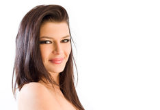 Beauty shot of young brunette. Royalty Free Stock Images