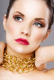 Beauty shot of a young woman's face Royalty Free Stock Image