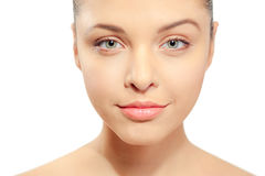 Beauty skin care face portrait of young woman Royalty Free Stock Photos