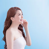Beauty skin care woman face Stock Photo