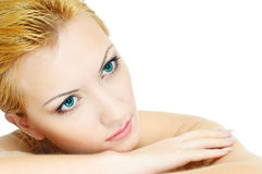 Beauty skin and eyes royalty free stock photography