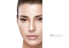 Beauty and Skincare concept. Spa Girl Royalty Free Stock Image