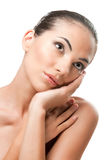 Beauty and skincare portrait royalty free stock image