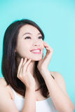 Beauty skincare woman Royalty Free Stock Images
