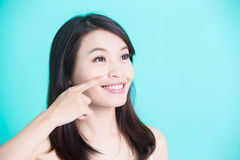 Beauty skincare woman Royalty Free Stock Photography
