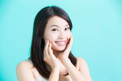 Beauty skincare woman Stock Images