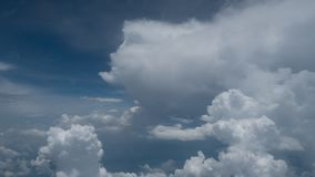 Beauty sky and  big clouds in nature look from the plane window Royalty Free Stock Photos