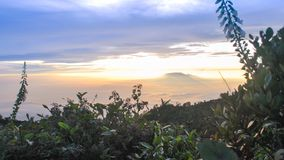 Beauty Sky from Lawu Mountain Indonesia Stock Photos