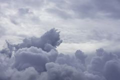 The beauty of the sky and the rain cloud in the day time.  royalty free stock image