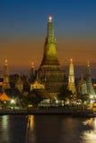 Beauty sky after sunset at Wat Arun Temple Stock Photos