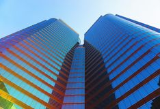 Beauty skyscrapers low angle view Royalty Free Stock Images