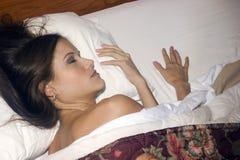 Woman Gets Much Needed Beauty Sleep Stock Photos