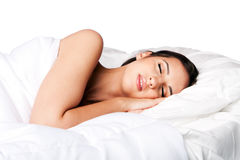 Beauty sleep and dreaming woman Stock Photos