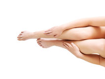 Beauty slim female legs Royalty Free Stock Photo