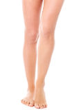 Beauty slim female legs, isolated Royalty Free Stock Images