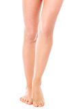 Beauty slim female legs, isolated Royalty Free Stock Photo