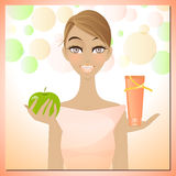 Beauty and slimming cream Stock Images