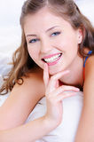 Beauty smile of young fresh happy girl Royalty Free Stock Images