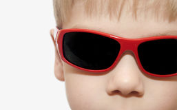 Beauty smiling child boy in sunglasses Royalty Free Stock Photo